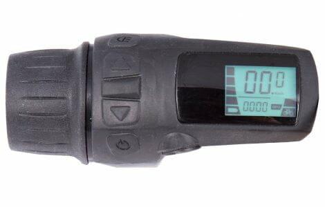 Compact display med LCD och gashandtag